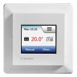 Elektrilise põrandakütte termostaat puutetundliku ekraaniga