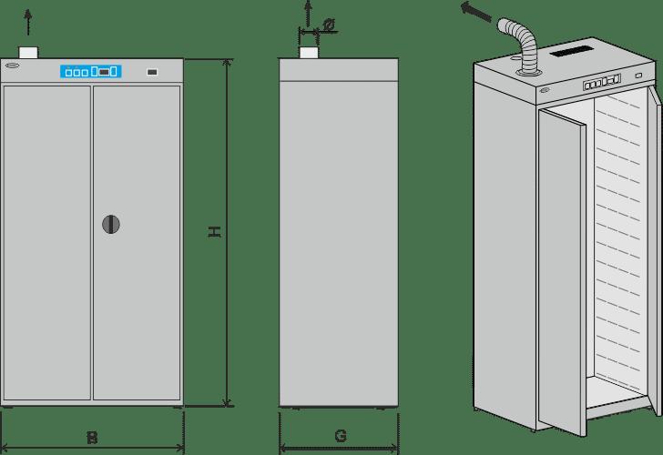 Tööstuslik toidukuivati toidukuivataja dehüdraator tööstusele tootmisele