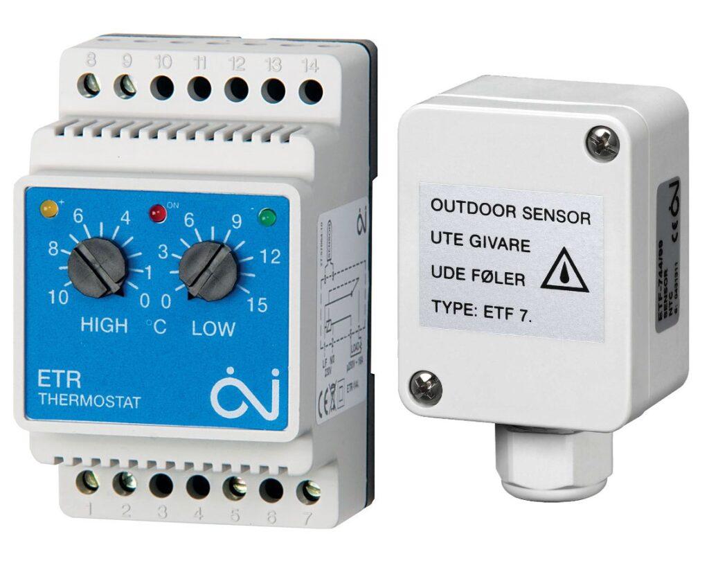терморегулятор для обогрева в водостоках