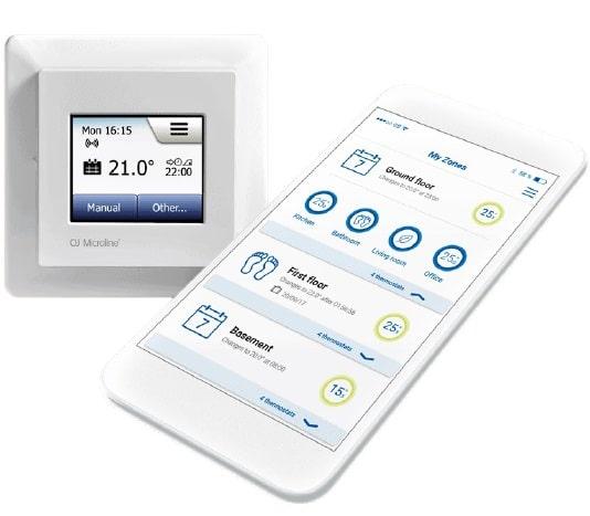 juhtmevaba elektrilise põrandakütte termostaat